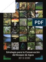 Estrategia Regional Conservacion Bosque de Agua