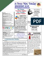 newsletter september 21-25