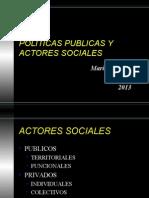 Politicas Publicas y Actores Sociales