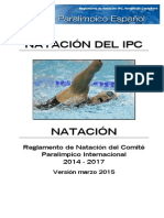 Reglamento NATACION IPC 2014-2017 Actualizado Marzo 2015