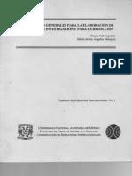 Lineamientos Generales Para La Elaboracion de Proyectos de Investigacion y Para La Redaccion