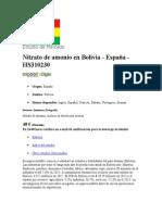 Nitrato de Amonio en Bolivia