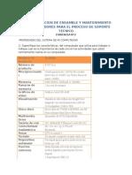 Fundamentacion de Ensamble y Mantenimiento de Computadores Para El Proceso de Soporte Tecnico