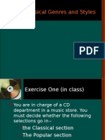 Genres and Types in the music industry