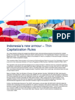 Tax Alert Sept - PMK 169 - Thin Capitalization in Indonesia