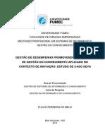 MESTRADO PROFISSIONAL EM SISTEMAS DE INFORMAÇÃO E  GESTÃO DO CONHECIMENTO
