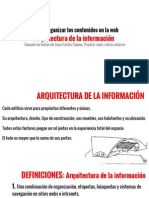Arquitectura Info, Wireframes y Escribir Para La Web PDF