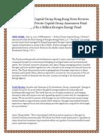 Forbes Private Capital Group Hong Kong News Reviews Alert Forbes Private Capital Group Announces Final Closing of $1.0 Billion Kerogen Energy Fund