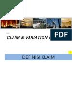 Claim & Variation Order