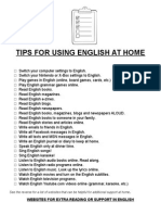 tips for using english at home