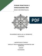 Laporan Praktikum II Pemrograman Web