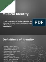 Musical Identity