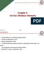 Chapter 5 Ad Hoc Wireless