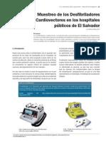2. Muestreo de Los Desfibriladores Cardiovectores en Los Hospitales Publicos de El Salvador