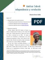 Amilcar Cabral Independencia y Revolcuion
