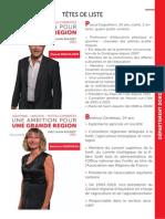 Listes des candidats socialistes en Dordogne pour les élections régionales 2015