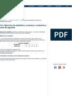 Ejercicios de Estadística Bidimensional. Problemas de Estadística