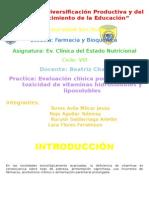 Evaluación Clínica Por Deficiencia y Toxicidad de Vitaminas Hidrosolubles y Liposolubles (Autoguardado)