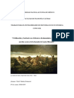 Civilización y barbarie en el discurso decimononico argentino