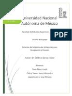 Criterios de Selecion de Materiales Para Recipienteas a Presion UNAM