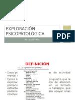 Exploración psicopatológica