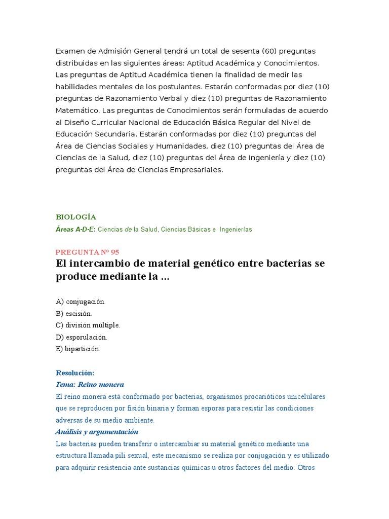 Examen De Admision Universidad De Huanuco Velocidad Del Viento La Transcriptasa Inversa