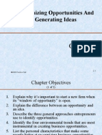 Ch#2 Recognizing Opportunities and Generating Ideas