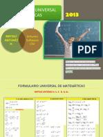 Formulario Universal de Matematicas