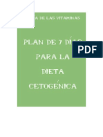 Plan Dieta Cetogenica