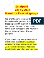 Hazrat Jalalpuri Martyred by Zaid Hamid Fascist Gangs