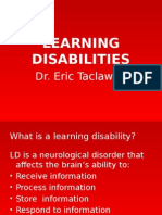 Learning Disabilities_dr. Eric Taclawan