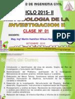 Clase 01 Tesis II Introduccion 2015 II