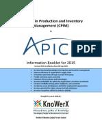 KEI APICS CPIM Information Booklet 2015.04