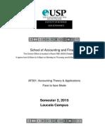 AF301 Course Outline Semester 2, 2015