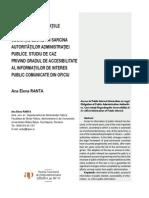 Accesul La Informatii de Interes Public
