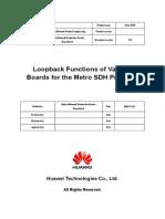 Loop-Back Functions SDH