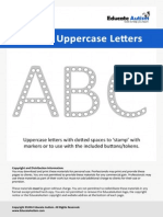 Dotted Uppercase Letters - Educate Autism