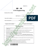 AP PGECET Civil Engg 2015 Question Paper & Answer Key Download