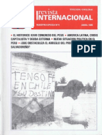 Revista Internacional - Nuestra Epoca N°4 - Edición Chilena - Abril 1986