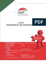 Sílabo de Ingeniería de Materiales 2015-II