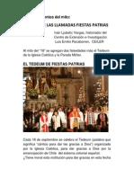 Más Sobre Las Llamadas Fiestas Patrias