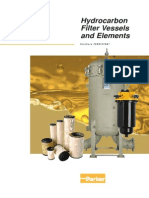 Hydrocarbon Filter Vessels and Elements
