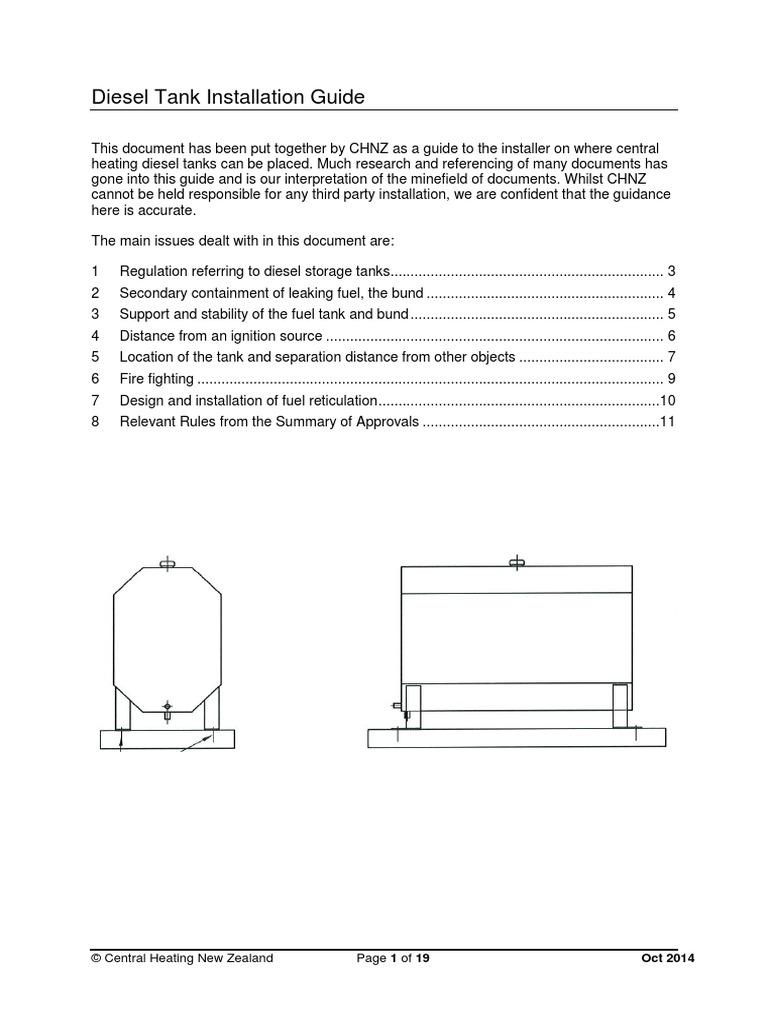 Diesel Tank Installation Guide | Combustion | Flammability