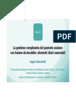 La gestione complessiva dell'anziano frasgile con lesioni da decubitoModulo 7