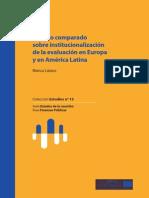 Estudio comparado sobre institucionalización de la evaluación en Europa y en América Latina