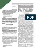 Decreto supremo que modifica el reglamento de licencias de habilitación urbana y licencias de edificación
