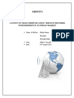 MBA C -Sector Analysis of Telecommunication- Service Providers