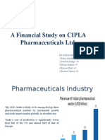 A Financial Study on CIPLA Pharmaceuticals Ltd (1)