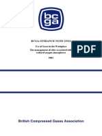 BCGA - Use of Compressed Gases in the Workplace