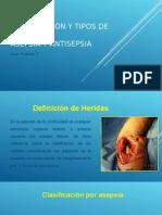 HERIDAS Antisepticos en cirugia